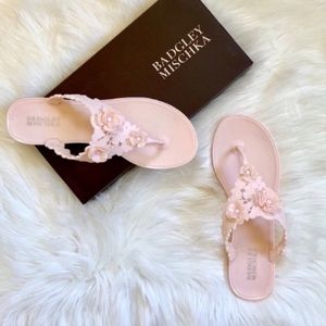 Badgley Mischka Light Pink Bali Jelly Flip Flop